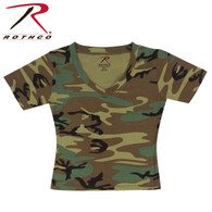 Rothco Womens Short Sleeve Camo V-Neck T-Shirt
