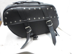 Black Universal Motorcycle Motorcycle Leather SaddleBags Side Bags