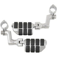 "Kuryakyn Tour-Tech Iso Dually Offset 1 1/4"" Clamp Highway Footpegs - Harley Pegs"
