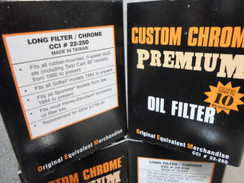 CHROME OIL FILTER BY CUSTOM CHROME 4 HARLEY TWIN CAM