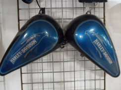 HARLEY DAVIDSON TANK FENDER SET FXDF DYNA FAT BOB STYLE  PAINTED BLUE NICE