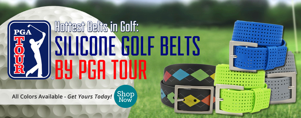 PGA Tour Silicone Golf Belts