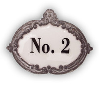 CIH137 - Enamel No. 2 sign
