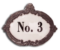 CIH138 - Enamel No. 3 sign