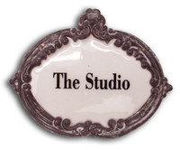 CIH139 - The Studio Enamel Sign