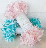 Tissue Paper Garland - Blue & White
