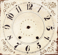 CIH058-12 - Square Clock Face - 12""