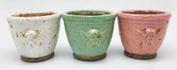 HC008 - Glazed Flower Pot Pink