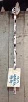 CIH098W - Flower Clip Strip in White