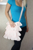 CIH130 - White Ruffle Purse