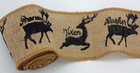 PSWY74 - Burlap Ribbon (Deer)