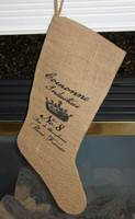 PSWY83 - Burlap Stocking (Crown)
