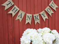 "PS13B - ""Thank You"" Burlap Banner"