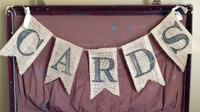 "PS14B - ""Cards"" Burlap Banner"