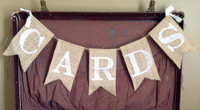 "PS14 - ""Cards"" Burlap Banner"