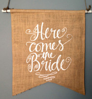 "PS15 - "" Here Comes the Bride"" Pennant"
