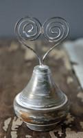 CIH186  - Doorknob Heart Holder Bauble Zinc