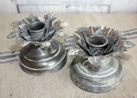 CIH244 - Ivy Candle Holder - Zinc