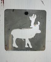 """CIH276 - Metal Stencil 4"""" x 4"""" - Moose"""