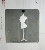 "CIH280 - Metal Stencil 4"" x 4"" - Dress Form"