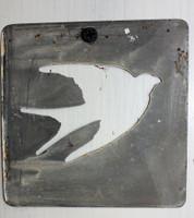 """CIH279 - Metal Stencil 4"""" x 4"""" - Flying Bird"""
