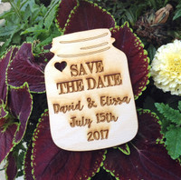 Mason Save The Date Custom Set/50 Magnets