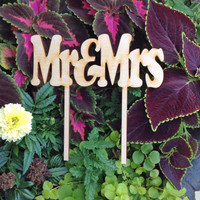 Mr & Mrs Cake Topper Style 1