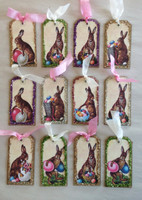 Easter Tag Chocolate Bunnies Mini S/12