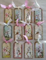 Easter Tags Pastel Bunnies Mini S/12