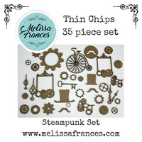 Thin Chips-Steam Punk Set-35 pcs