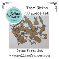 Thin Chips-Dress Form Set-50 pcs