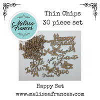 Thin Chips-Happy Birthday Set-30 pcs