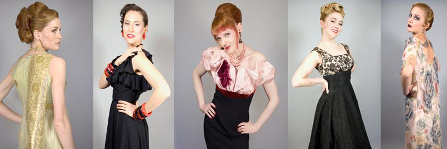 vintage dresses midcentury 1950s 1960s bombshells