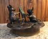 Mouse painting bronze sculpture