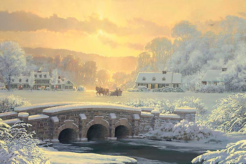 SLEIGH RIDE AT APPLE CREEK, William S. Phillips LIMITED EDITION PRINT