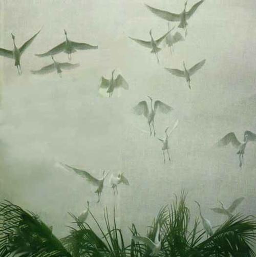 Egrets of the Sacred Grove by Robert Bateman