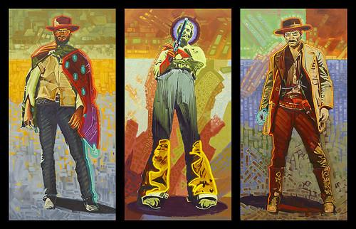Neon Gunslingers by Michael Blessing
