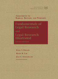 BARKAN'S ASSIGNMENTS TO FUNDAMENTALS OF LEGAL RESEARCH (10TH, 2015) 9781609300579
