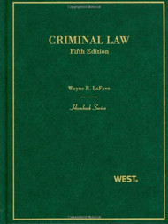 LAFAVE'S CRIMINAL LAW (5TH, 2010) (HORNBOOK SERIES) 9780314912688