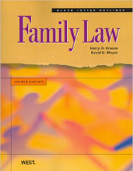 KRAUSE'S BLACK LETTER OUTLINE ON FAMILY LAW (4TH, 2009) 9780314194480