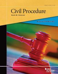 CLERMONT'S BLACK LETTER OUTLINE ON CIVIL PROCEDURE (10TH, 2015) 9780314290533 OE