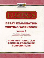 FLEMING'S ESSAY EXAMINATION WRITING WORKBOOK VOL. 3 2005