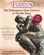 FLEMINGS PERFORMANCE EXAM SOLUTION FOR THE BAR EXAM 2010  9781932440669
