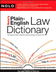 NOLO'S PLAIN-ENGLISH LAW DICTIONARY (2009)