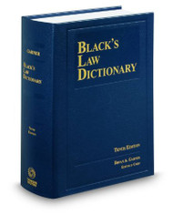 BRYAN A. GARNER'S BLACK'S LAW DICTIONARY-HARDCOVER (10TH, 2014)  9780314613004