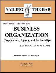 TYLER'S NAILING THE BAR: HOW TO WRITE ESSAYS FOR BUSINESS ORGANIZATIONS 9781936160204