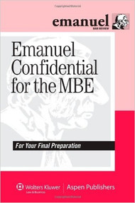 EMANUEL CONFIDENTIAL FOR THE MBE 9780735594098