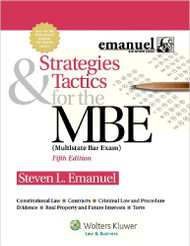 EMANUEL'S STRATEGIES & TACTICS FOR THE MBE 2012 (MULTISTATE BAR EXAM) 9781454809920