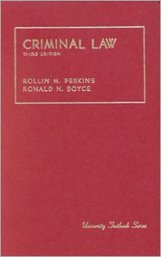 PERKIN'S CRIMINAL LAW (3RD, 1982) 9780882770673