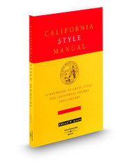 JESSEN'S CALIFORNIA STYLE MANUAL (4TH, 2000) 9780314233707